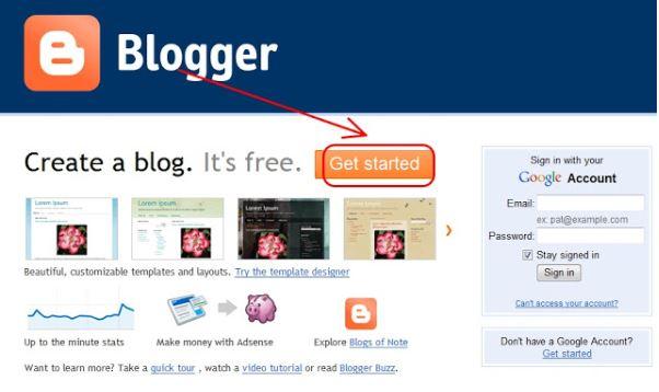 Blogger là một trong những công cụ tuyệt vời giúp bạn tạo trang blog cá nhân miễn phí
