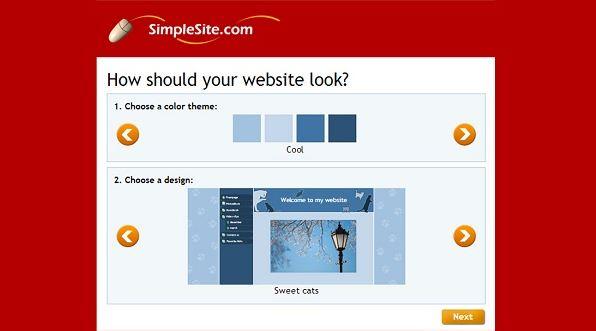 SimpleSite là trang web hỗ trợ tạo website miễn phí tốt cho những người thường xuyên di chuyển.