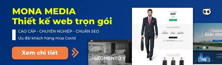 Giải pháp thiết kế web tại Mona