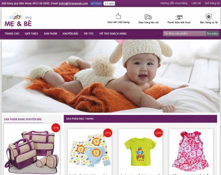 Lợi ích khi thiết kế website bán hàng mẹ và bé