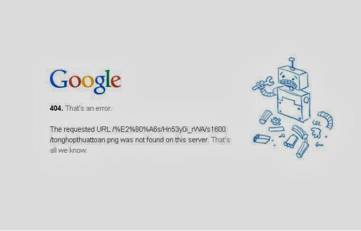 Tìm hiểu về lỗi 404 của website.