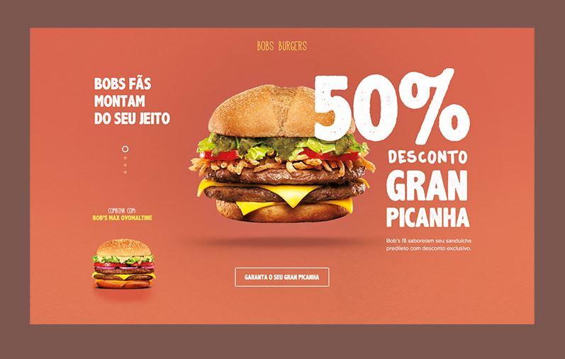 màu sắc ấn tượng cho website nhà hàng