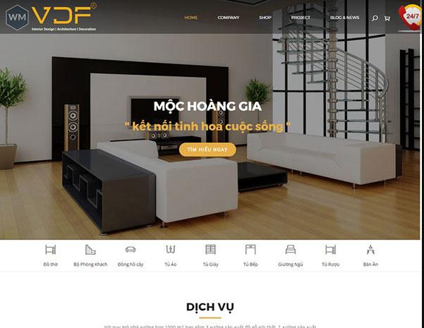 Mẫu website nội thất 1