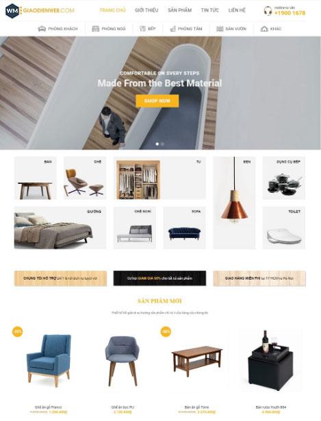 Mẫu website nội thất 4