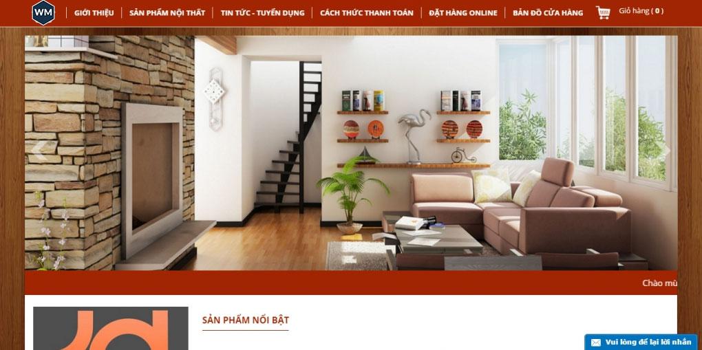 Mẫu website nội thất 5
