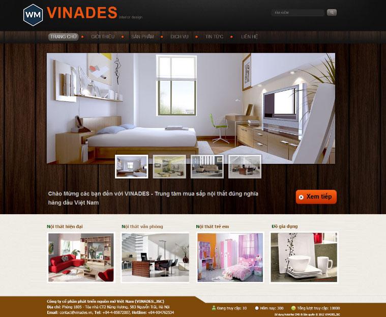 Mẫu website nội thất 6