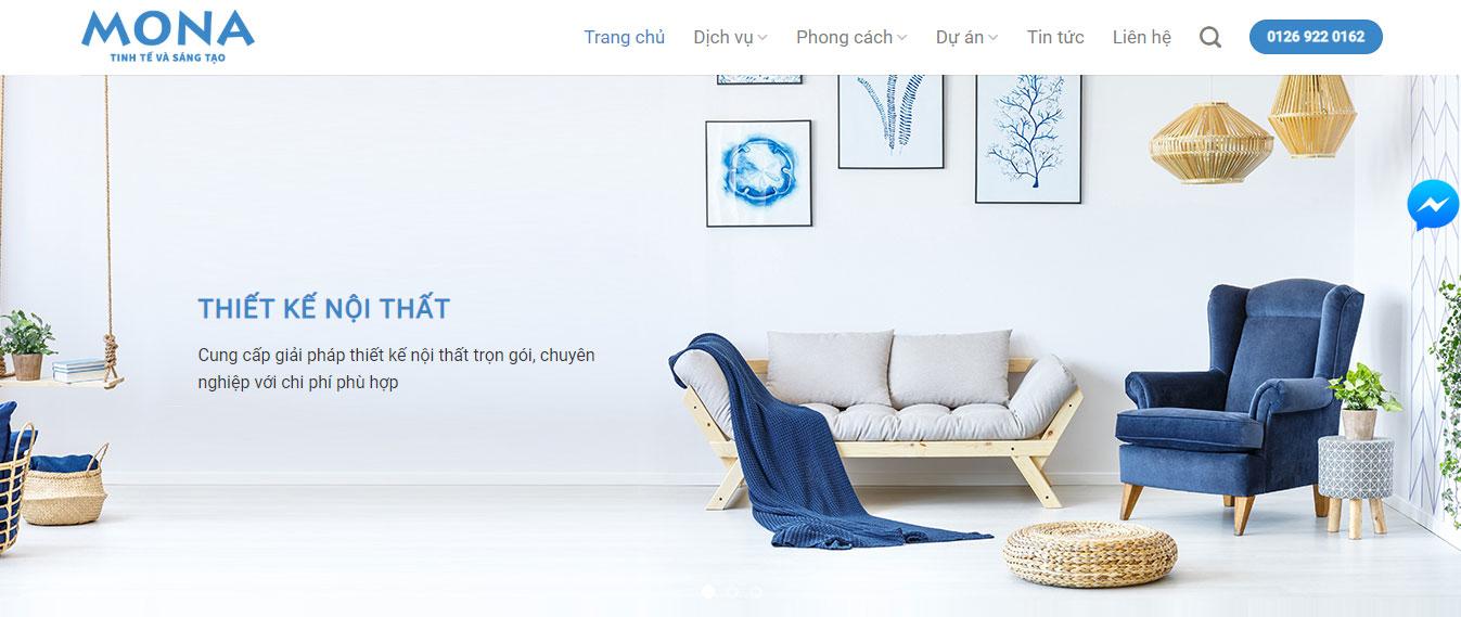 Website dịch vụ thiết kế nội thất