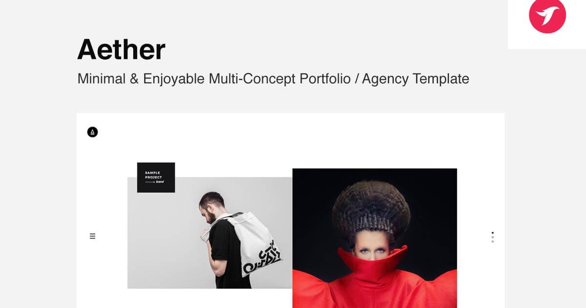 Mẫu website bán hàng thời trang Aether