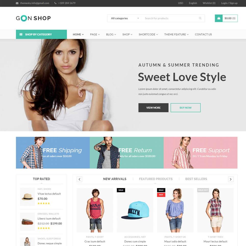 Mẫu website thời trang lựa chọn có gam màu tươi sáng