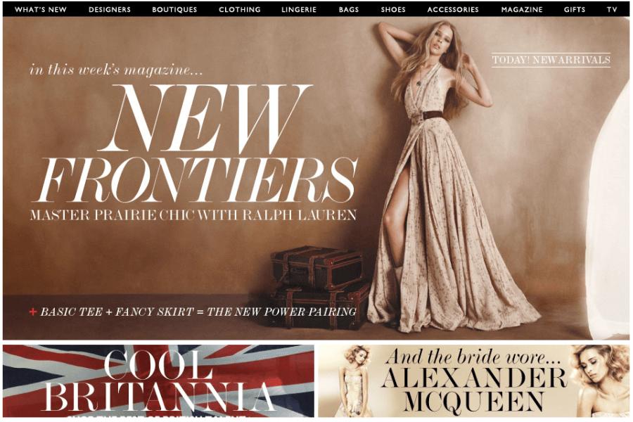 mẫu website đẹp cho ngành thời trang
