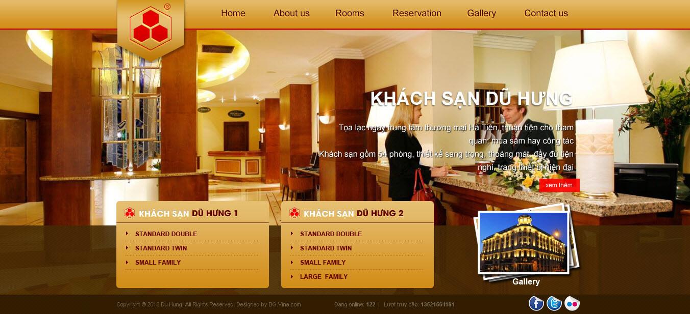 mẫu website khách sạn đẹp và chuyên nghiệp