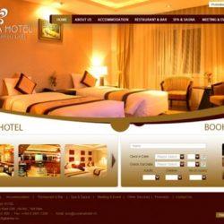 mẫu website khách sạn