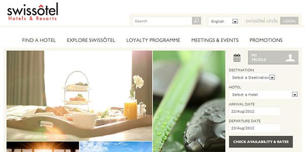 Mẫu website khách sạn Swissotel