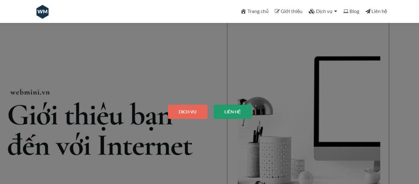 Thiết kế web thi trắc nghiệm online tại công ty Webmini