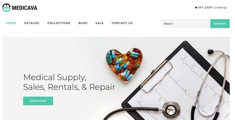 Dịch vụ thiết kế website thiết bị y tế
