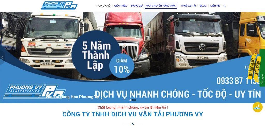 Dịch vụ vận tải chuyên nghiệp Phương Vy