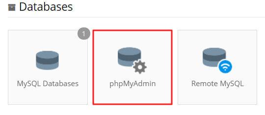truy cập vào phpmyadmin