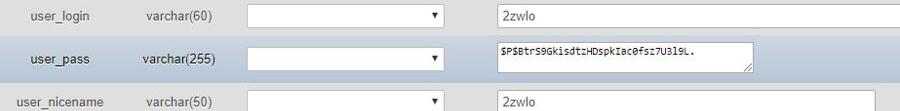 đổi mật khẩu wordpress trong phpmyadmin