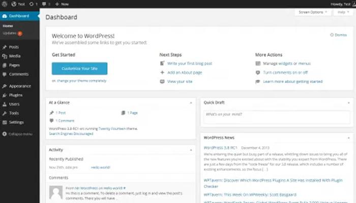 Đổi mật khẩu WordPress trong dashboard